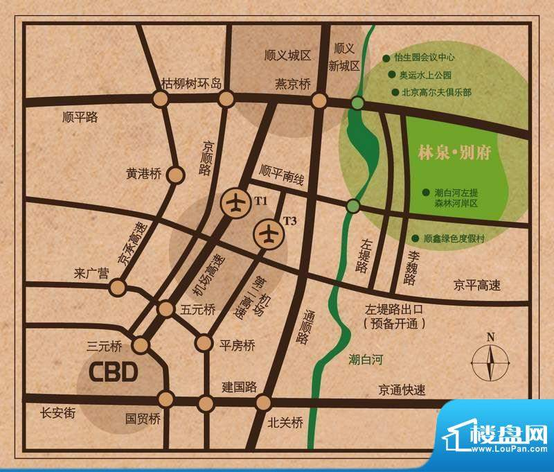 林泉别府交通图