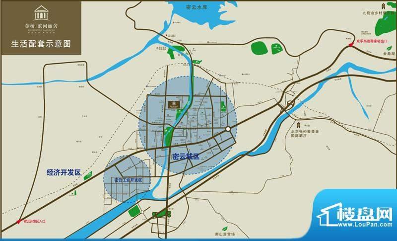 金桥·滨河丽舍交通图