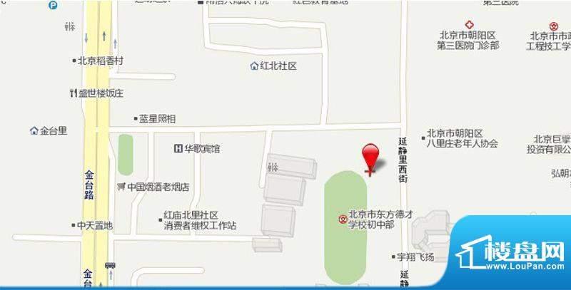 金隅悦和园交通图