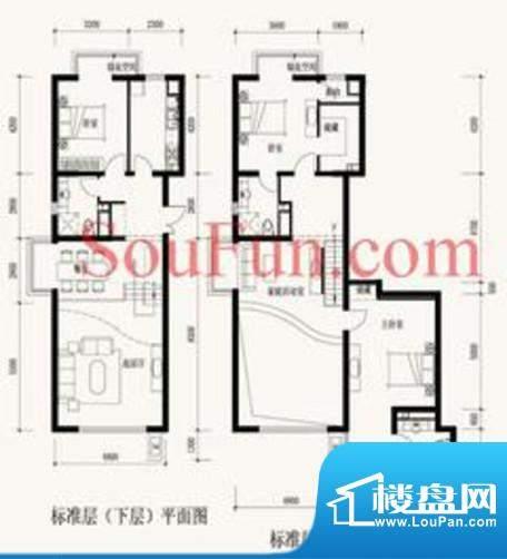 玉泉新城B9、12号楼B9 3室3厅3面积:217.04平米