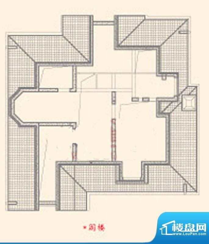 东御苑三期A阁楼户型图 5室2厅面积:250.60平米