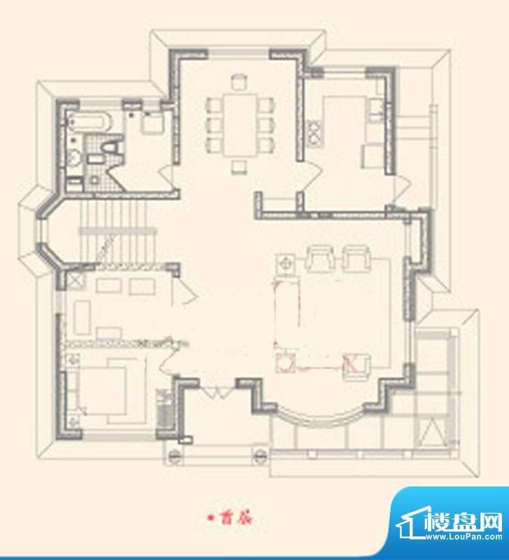 东御苑三期A首层户型图 5室2厅面积:250.60平米