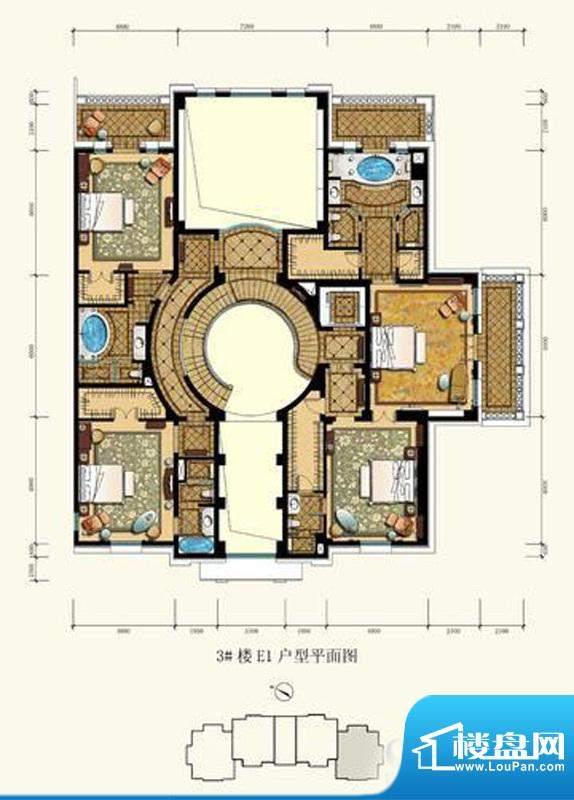 御园圆厅别墅户型图(售完) 4面积:360.00平米