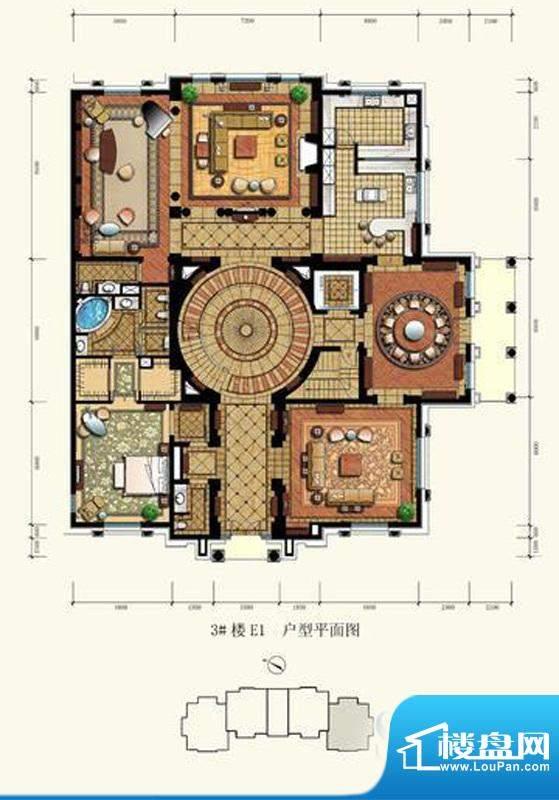 御园圆厅别墅户型图(售完) 3面积:160.00平米