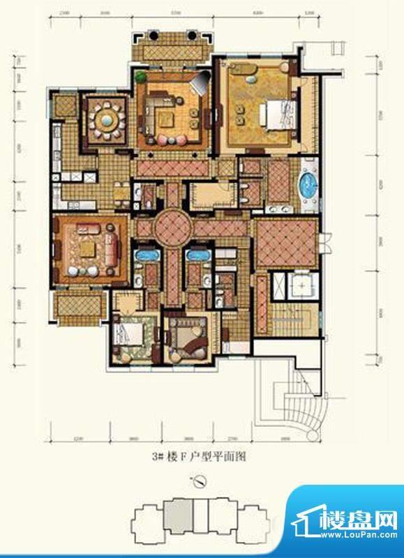 御园平层官邸户型图(售完) 4面积:360.00平米