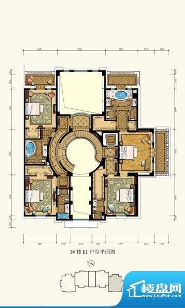 御园圆厅别墅2户型图(售完) 面积:360.00平米