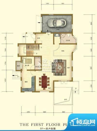 彼岸香醍一期d7户型-一层 1室1