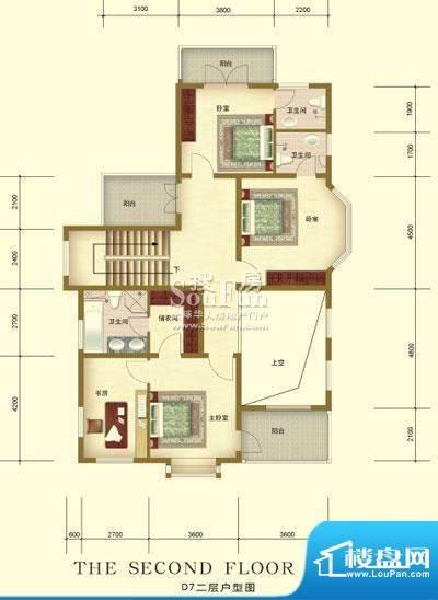彼岸香醍一期d7户型-二层 3室2