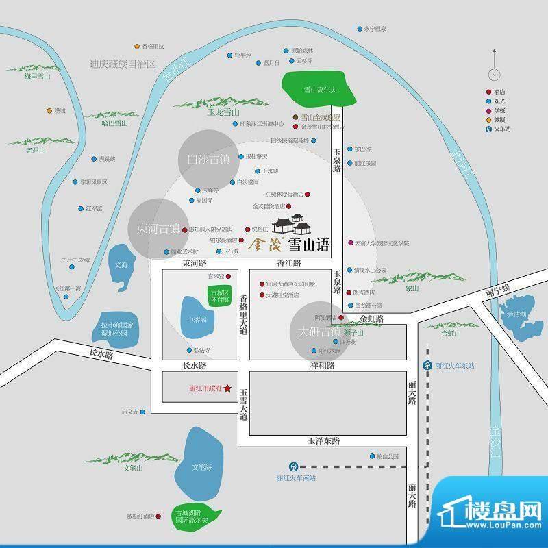 金茂雪山语交通图