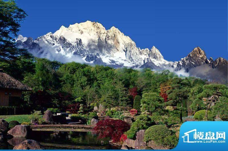 金茂雪山语远眺雪山实景图2012.2