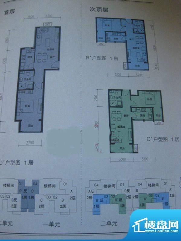 金隅通和园1、2单元CD户型