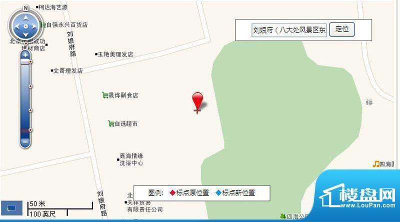 石景山刘娘府C1C2限价房地块交通图