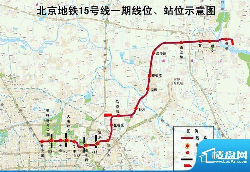 顺义马坡西侧限价商品房位置图