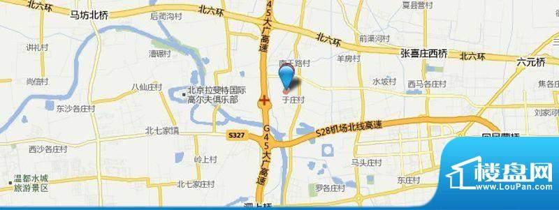 顺义区于庄村民安置房项目位置图