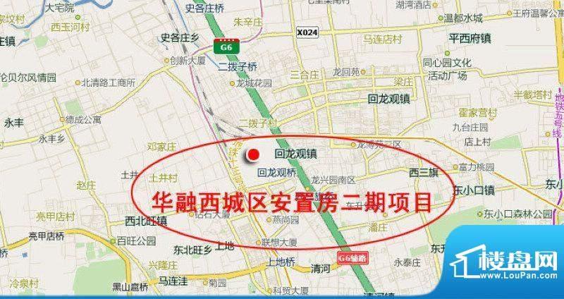 华融西城区安置房二期项目交通图