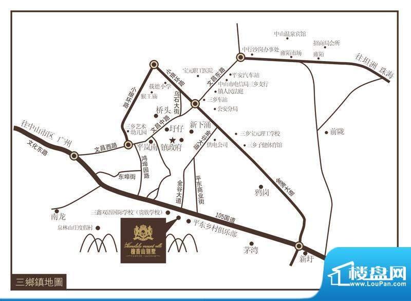 檀香山别墅交通图