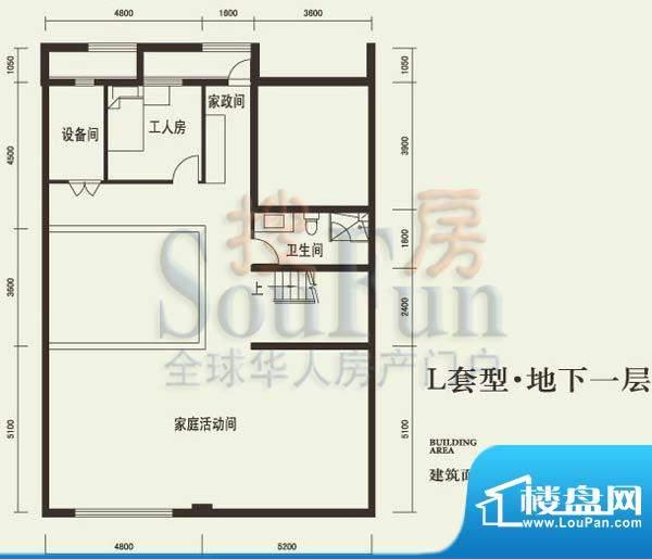 燕西台L地下层户型图 4室1厅1卫面积:111.08平米