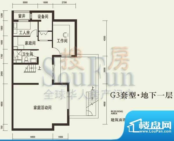 燕西台G3地下层户型图 4室1厅1面积:85.36平米
