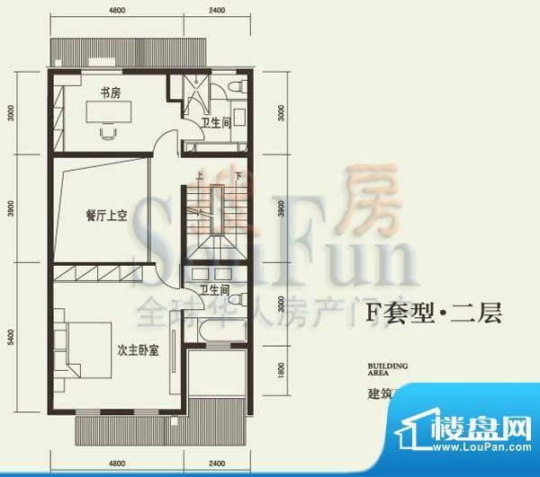 燕西台F二层户型图 2室2卫面积:74.64平米