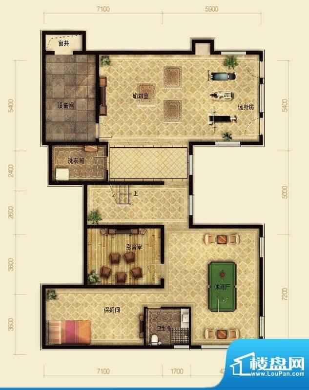 天恒·半山世家J半地下 4室2厅面积:199.07平米