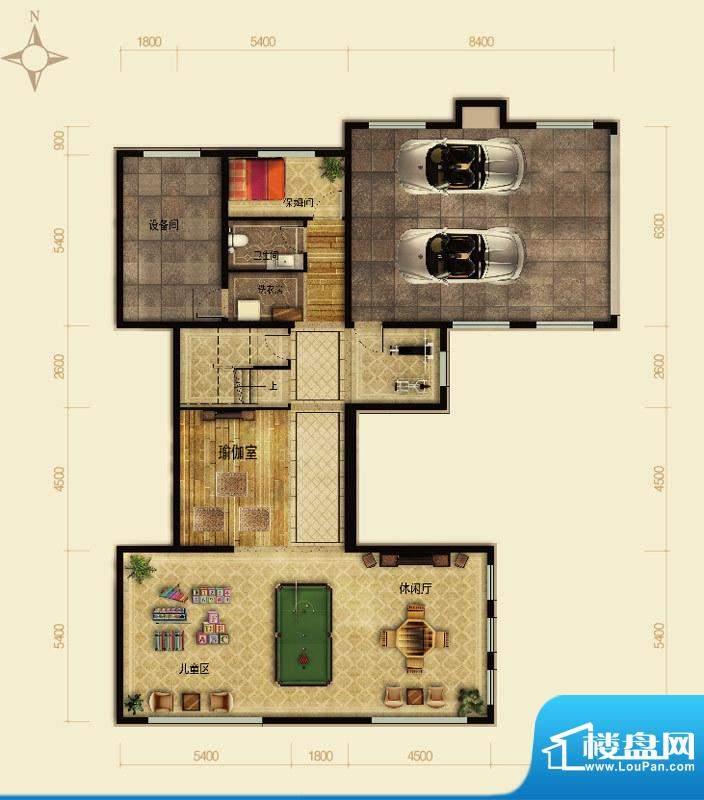 天恒·半山世家P户型半地下 4室面积:209.84平米