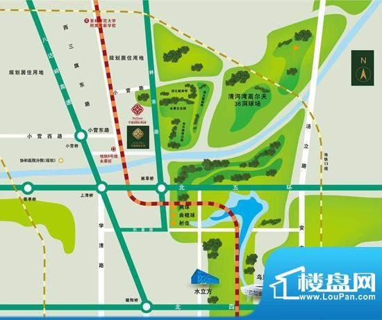 专家国际公馆交通图