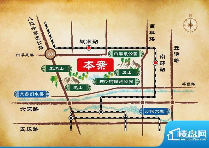 龙山华府交通图
