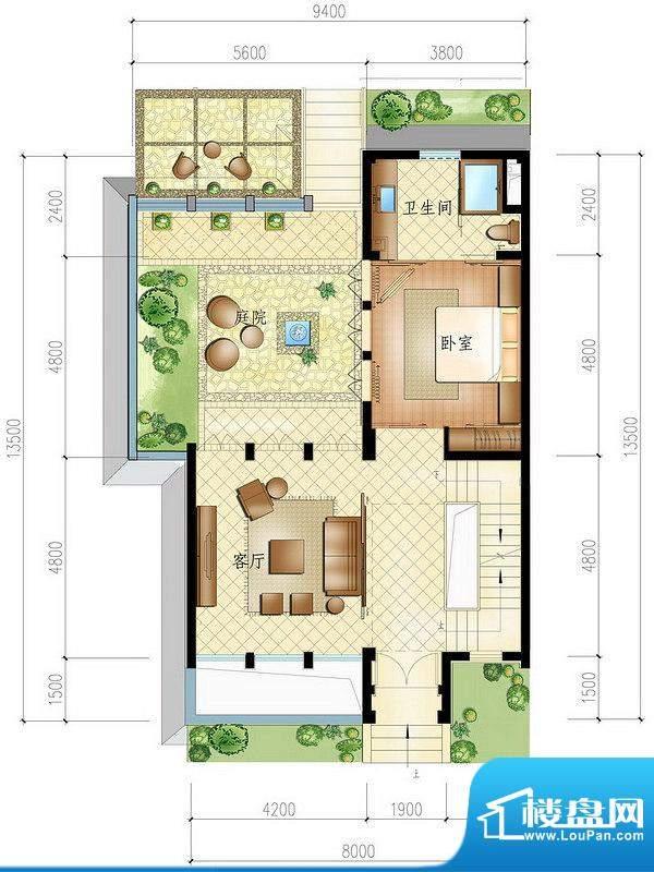 博鳌亚洲湾一期小院别墅圣陶沙面积:115.00平米