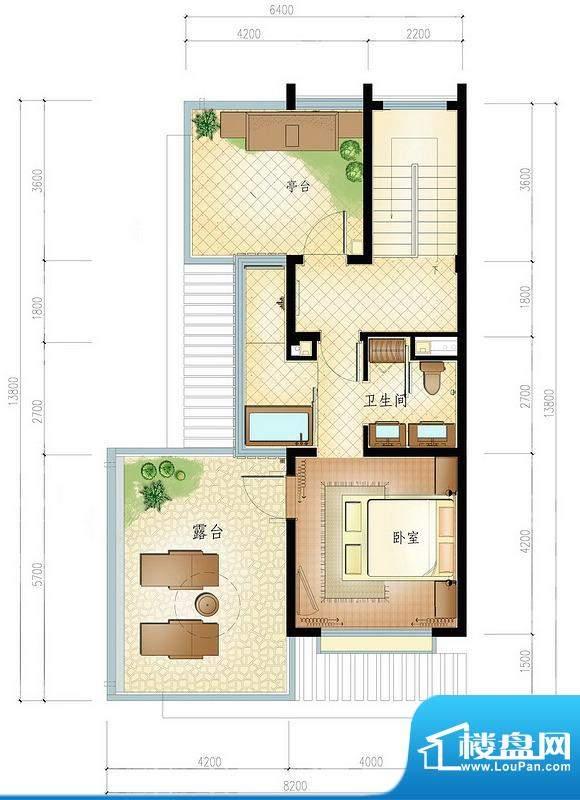 博鳌亚洲湾一期小院别墅圣淘沙面积:135.00平米