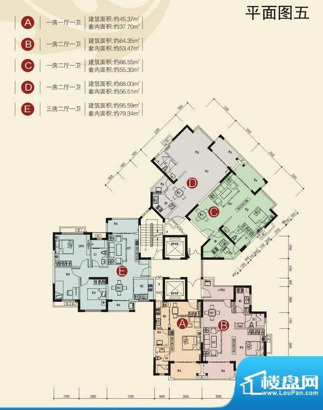 兆南山水汇园15-22平层图 面积:400.00平米