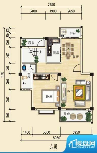 安博南方花园E1跃层(六层) 3室面积:147.68平米