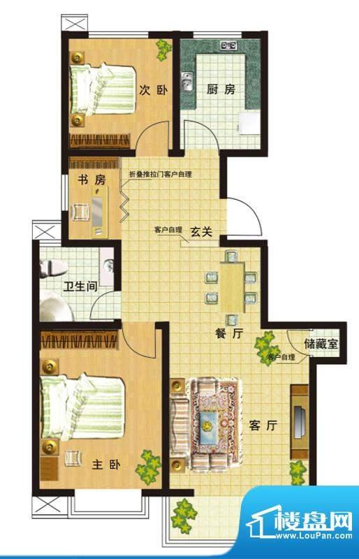 高速仁和盛庭一期15、16号楼2-面积:111.23平米