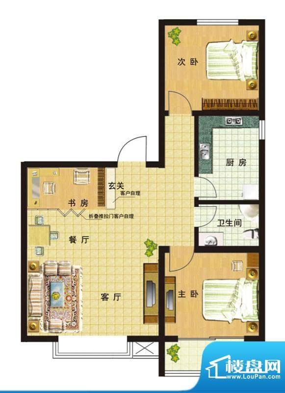 高速仁和盛庭一期1、2号楼2-11面积:111.19平米