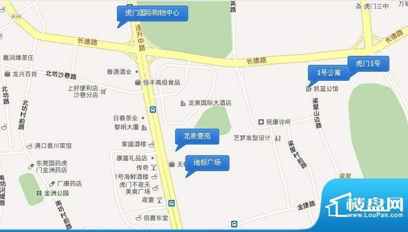 龙泉豪苑交通图