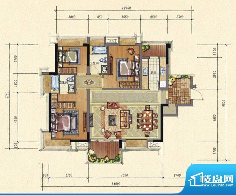 3栋标准层1单元04房C2