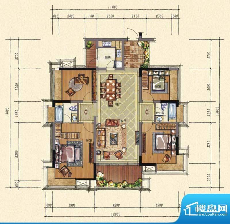3栋标准层1单元20+03房