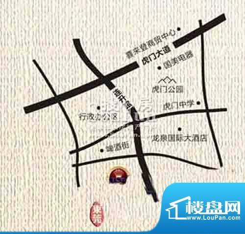 虎门地标交通图