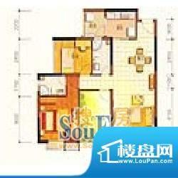 新世纪江畔湾户型3 2室2厅2卫1