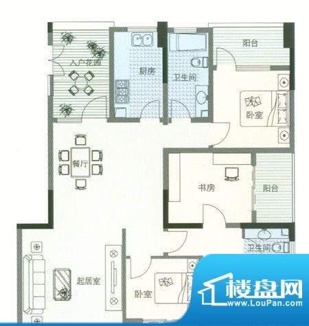 6室 户型图面积