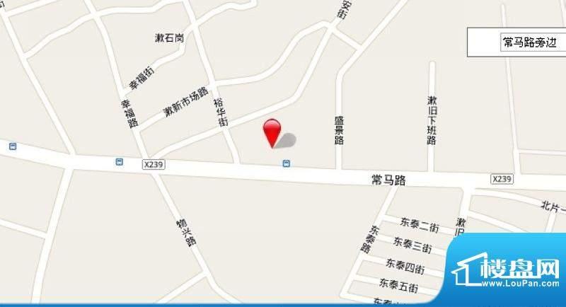 东田山畔华庭项目交通图