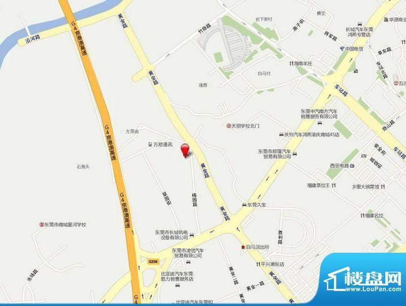 白马驿舍交通图