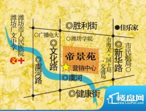 帝景苑交通图