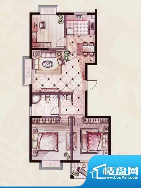 帝景苑19#-A户型 3室2厅1卫1厨面积:118.96平米