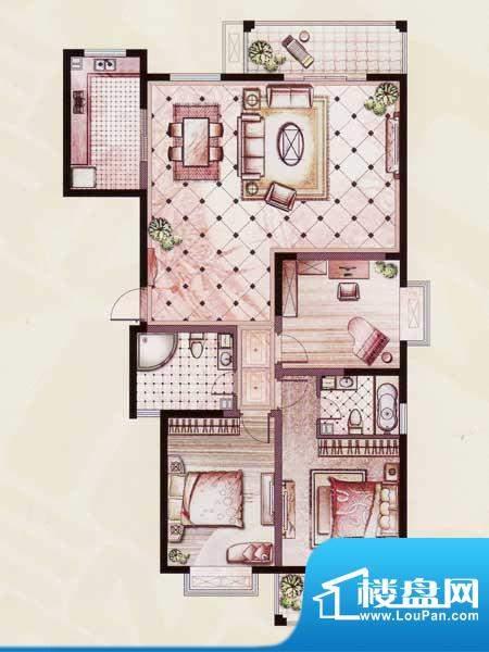 帝景苑20#-C户型 3室2厅2卫1厨面积:152.52平米