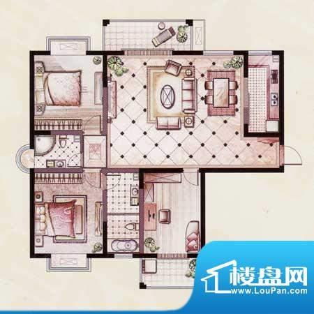 帝景苑20#-A户型 3室2厅2卫1厨面积:142.23平米