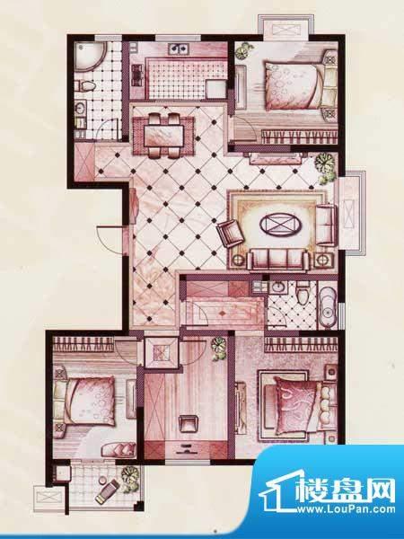 帝景苑31#-C户型 4室2厅2卫1厨面积:149.19平米