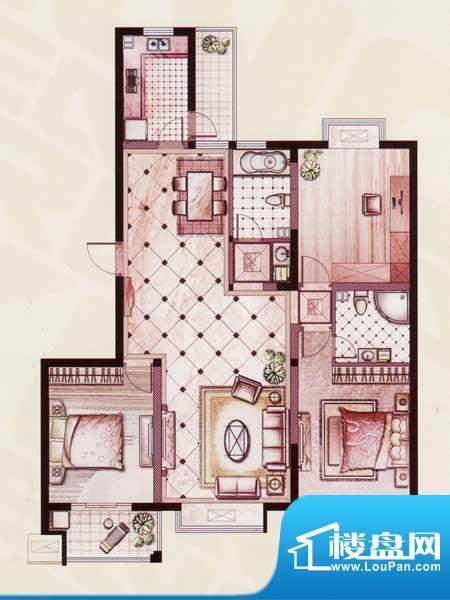 帝景苑31#-B户型 3室2厅2卫1厨面积:139.49平米