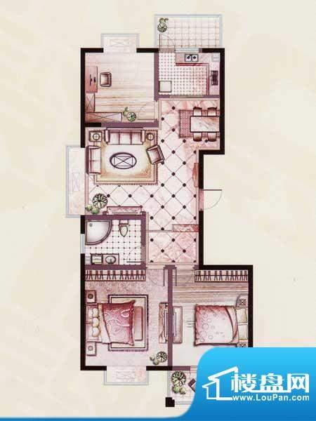帝景苑26#-A户型 3室2厅1卫1厨面积:120.02平米