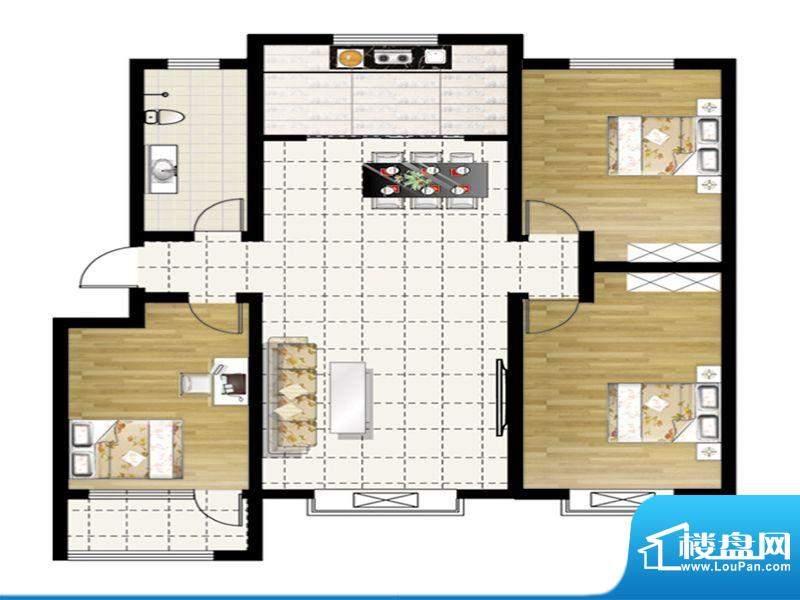 惠和园一期多层1、3、9、15号楼面积:134.00平米
