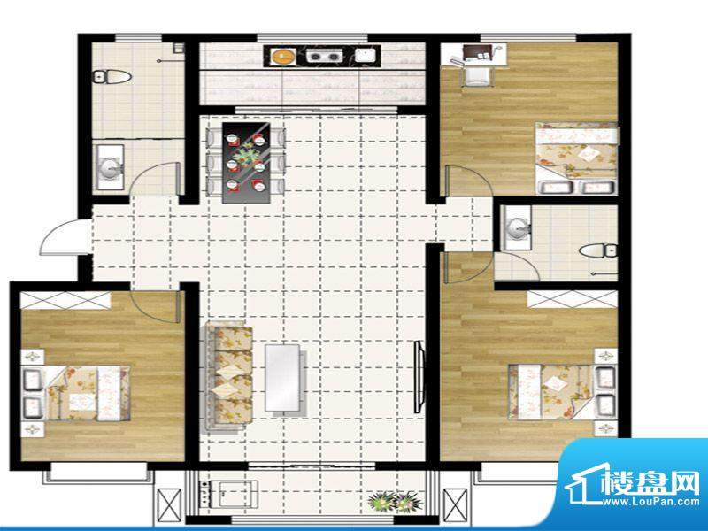 惠和园一期多层4、5、11号楼标面积:149.00平米